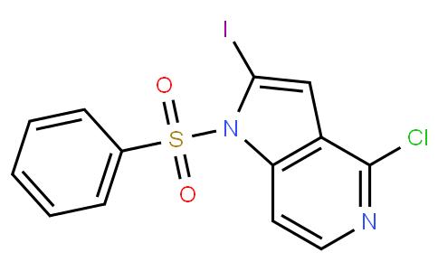N-苯磺酰基-2-碘-4-氯-5-氮杂吲哚
