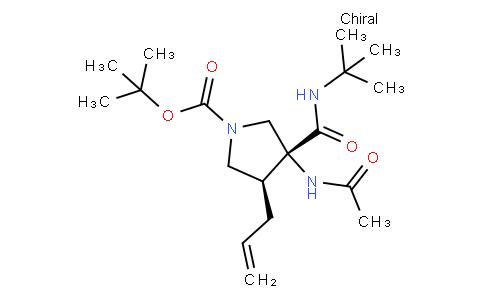 tert-butyl (3R,4S)-3-(tert-butylcarbamoyl)-3-acetamido-4-(prop-2-en-1-yl)pyrrolidine-1-carboxylate