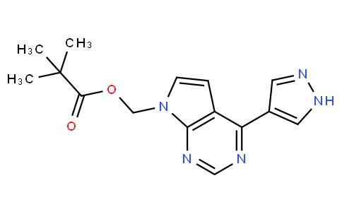 [4-(1H-Pyrazol-4-yl)-7H-pyrrolo[2,3-d]pyrimidin-7-yl]methyl pivalate