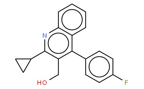 2-Cyclopropyl-4-(4-fluorophenyl)-quinolyl-3-methanol