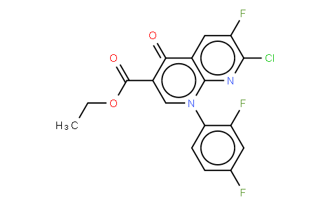 ETHYL 1-(2,4-DIFLUOROPHENYL)-7-CHORO-6-FLUORO-4-OXO-HYDROPYRIDINO[2,3-B] PYRIDINE-3-CARBOXYLATE