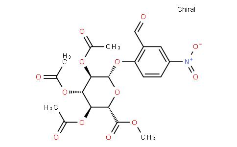 methyl 1-O-(2-formyl-4-nitrophenyl)-2,3,4-tri-O-acetyl-β-D-glucopyranuronate
