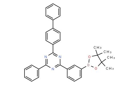 2-([1,1'-biphenyl]-4-yl)-4-phenyl-6-(3-(4,4,5,5-tetramethyl-1,3,2-dioxaborolan-2-yl)phenyl)-1,3,5-triazine