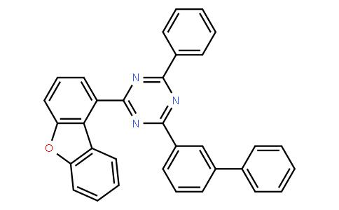 2-([1,1'-biphenyl]-3-yl)-4-(dibenzo[b,d]furan-1-yl)-6-phenyl-1,3,5-triazine
