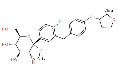 RS20027 | 1279691-36-9 | Methyl 1-C-[4-chloro-3-[[4-[[(3S)-tetrahydro-3-furanyl]oxy]phenyl]methyl]phenyl]-alpha-D-glucopyranoside