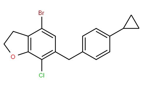 RS20181 | 1415477-23-4 | 4-bromo-7-chloro-6-[(4-cyclopropylphenyl)methyl]-2,3-dihydro-1-benzofuran