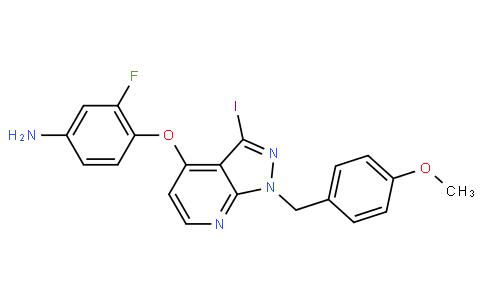 RS20184 | 949556-71-2 | 3-fluoro-4-(3-iodo-1-(4-methoxybenzyl)-1H-pyrazolo[3,4-b]pyridin-4-yloxy)aniline