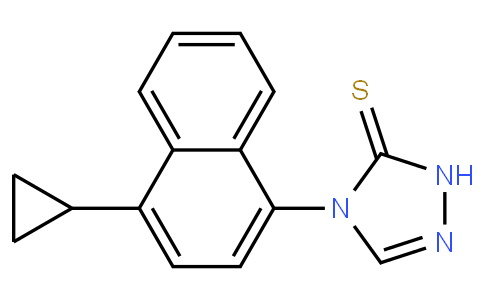 RS20282 | 1533519-84-4 | 4-(4-cyclopropylnaphthalen-1-yl)-1H-1,2,4-triazole-5(4H)-thione