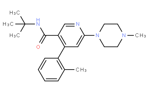 RS20283 | 881743-64-2 | 3-PYRIDINECARBOXAMIDE, N-(1,1-DIMETHYLETHYL)-4-(2-METHYLPHENYL)-6-(4-METHYL-1-PIPERAZINYL)-