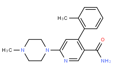 RS20284 | 342417-01-0 | 3-PYRIDINECARBOXAMIDE, 4-(2-METHYLPHENYL)-6-(4-METHYL-1-PIPERAZINYL)-