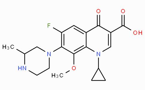1-Cyclopropyl-6-fluoro-1,4-dihydro-8-methoxy-7-(3-methyl-1-piperazinyl)-4-oxo-3-quinolinecarboxylic acid
