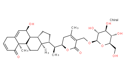 (22R)-7α,22-Dihydroxy-1-oxo-27-(β-D-glucopyranosyloxy)ergosta-2,5,24-trien-26-oic acid δ-lactone