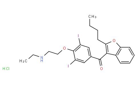 (2-Butylbenzofuran-3-yl)(4-(2-(ethylamino)ethoxy)-3,5-diiodophenyl)methanone hydrochloride