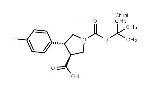 (3S,4r)-4-(4-fluorophenyl)-1-[(2-methylpropan-2-yl)oxycarbonyl]pyrrolidine-3-carboxylic acid