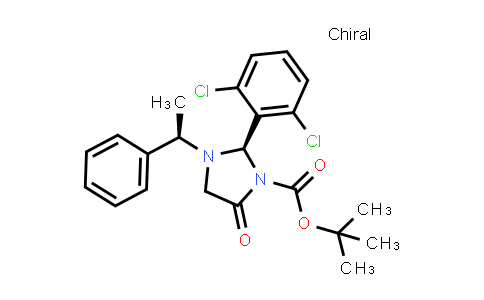 Tert-butyl (r)-2-(2,6-dichlorophenyl)-5-oxo-3-[(r)-1-phenylethyl]imidazolidine-1-carboxylate