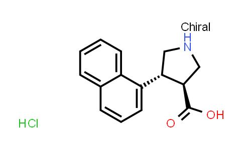 (3S,4r)-4-naphthalen-1-ylpyrrolidine-3-carboxylic acid hydrochloride