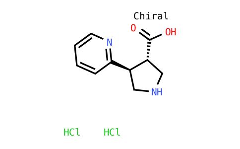 (3S,4s)-4-pyridin-2-ylpyrrolidine-3-carboxylic acid dihydrochloride