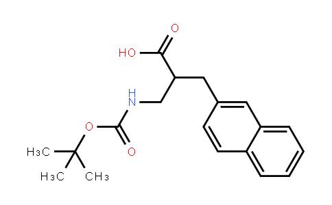 2-[[(2-Methylpropan-2-yl)oxycarbonylamino]methyl]-3-naphthalen-2-ylpropanoic acid