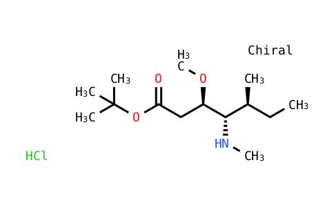 Tert-butyl (3R,4S,5S)-3-methoxy-5-methyl-4-(methylamino)heptanoate hydrochloride