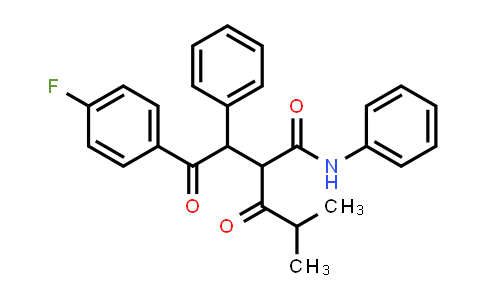 2-[2-(4-Fluorophenyl)-2-oxo-1-phenylethyl]-4-methyl-3-oxo-N-phenylpentanamide