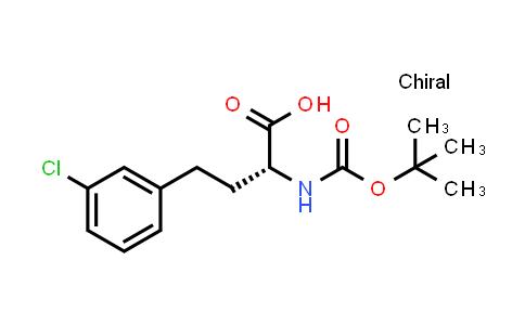 Benzenebutanoic acid, 3-chloro-α-[[(1,1-dimethylethoxy)carbonyl]amino]-, (αR)-