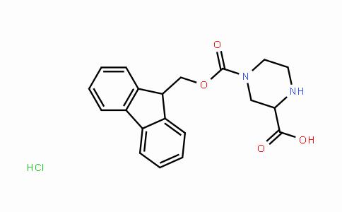 4-(((9H-Fluoren-9-yl)methoxy)carbonyl)piperazine-2-carboxylic acid hydrochloride