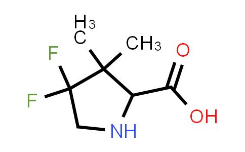 4,4-Difluoro-3,3-dimethylpyrrolidine-2-carboxylic acid