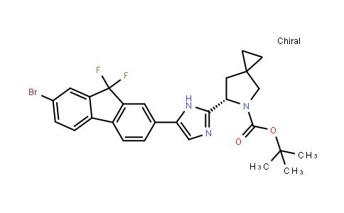Tert-butyl (6s)-6-[5-(7-bromo-9,9-difluorofluoren-2-yl)-1h-imidazol-2-yl]-5-azaspiro[2.4]heptane-5-carboxylate