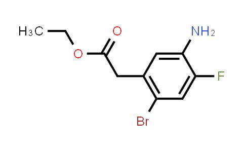 Ethyl 2-(5-amino-2-bromo-4-fluorophenyl)acetate