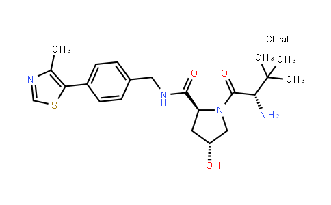 (2S,4r)-1-[(2s)-2-amino-3,3-dimethylbutanoyl]-4-hydroxy-n-[[4-(4-methyl-1,3-thiazol-5-yl)phenyl]methyl]pyrrolidine-2-carboxamide