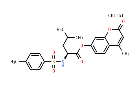 4-methyl-2-oxo-2H-chromen-7-yl N-[(4-methylphenyl)sulfonyl]-L-leucinate