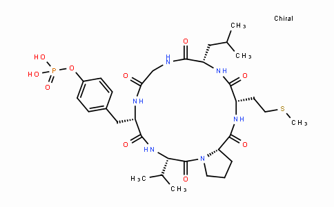 Cyclo(-Gly-Tyr(PO3H2)-Val-Pro-Met-Leu)