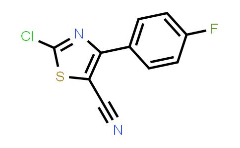 2-Chloro-4-(4-fluorophenyl)-1,3-thiazole-5-carbonitrile