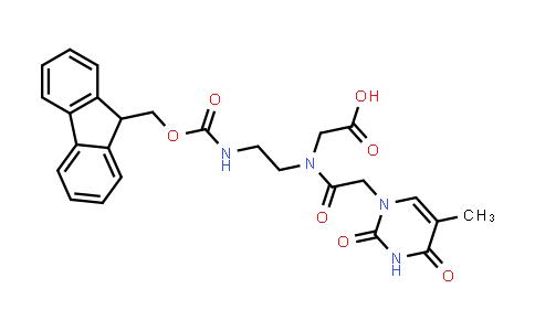 2-[2-(9H-fluoren-9-ylmethoxycarbonylamino)ethyl-[2-(5-methyl-2,4-dioxopyrimidin-1-yl)acetyl]amino]acetic acid