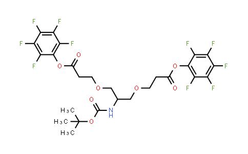 (2,3,4,5,6-Pentafluorophenyl) 3-[2-[(2-methylpropan-2-yl)oxycarbonylamino]-3-[3-oxo-3-(2,3,4,5,6-pentafluorophenoxy)propoxy]propoxy]propanoate