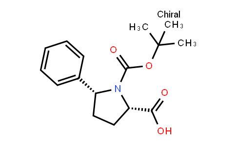 (2S,5r)-1-[(2-methylpropan-2-yl)oxycarbonyl]-5-phenylpyrrolidine-2-carboxylic acid