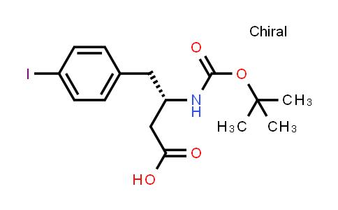 (3S)-4-(4-iodophenyl)-3-[(2-methylpropan-2-yl)oxycarbonylamino]butanoic acid