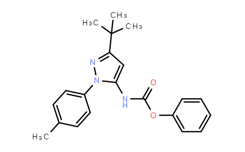Phenyl n-[5-tert-butyl-2-(4-methylphenyl)pyrazol-3-yl]carbamate