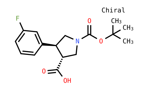 (3R,4s)-4-(3-fluorophenyl)-1-[(2-methylpropan-2-yl)oxycarbonyl]pyrrolidine-3-carboxylic acid