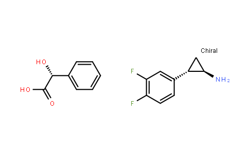 trans-(1R,2S)-2-(3,4-difluorophenyl)cyclopropanamine (2R)-2-hydroxy-2-phenylethanoate