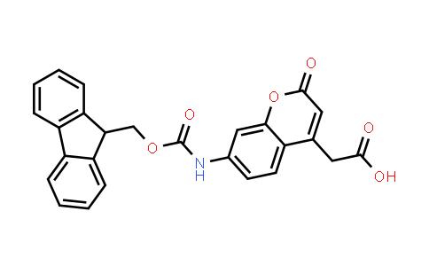 2-[7-(9H-Fluoren-9-ylmethoxycarbonylamino)-2-oxochromen-4-YL]acetic acid