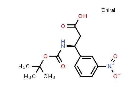 (3S)-3-[(2-Methylpropan-2-YL)oxycarbonylamino]-3-(3-nitrophenyl)propanoic acid