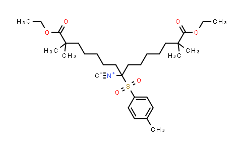 Diethyl 8-isocyano-2,2,14,14-tetramethyl-8-(4-methylphenyl)sulfonylpentadecanedioate