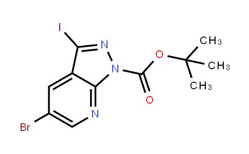 Tert-butyl 5-bromo-3-iodopyrazolo[3,4-b]pyridine-1-carboxylate
