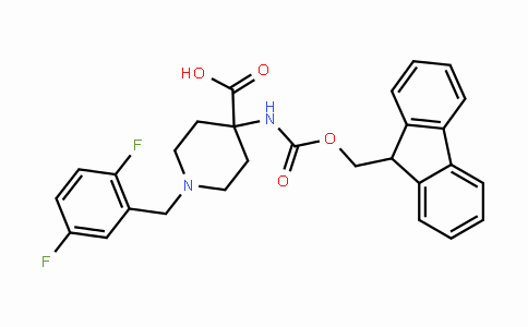 4-(Fmoc-NH2)-1-(2,5-F2-benzyl)-4-carboxypiperidine