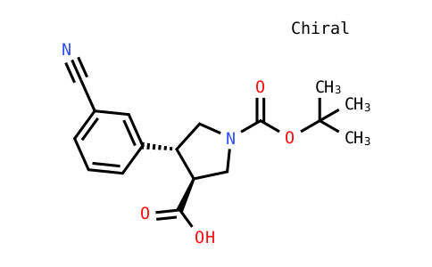 (3S,4r)-4-(3-cyanophenyl)-1-[(2-methylpropan-2-yl)oxycarbonyl]pyrrolidine-3-carboxylic acid