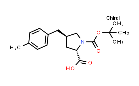 (2S,4R)-4-[(4-Methylphenyl)methyl]-1-[(2-methylpropan-2-YL)oxycarbonyl]pyrrolidine-2-carboxylic acid