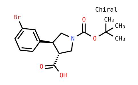 (3R,4s)-4-(3-bromophenyl)-1-[(2-methylpropan-2-yl)oxycarbonyl]pyrrolidine-3-carboxylic acid