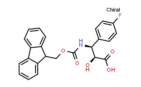 N-fmoc-(2S,3S)-3-amino-3-(4-fluoro-phenyl)-2-hydroxy-propionic acid