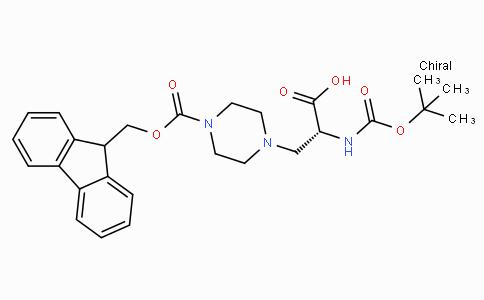 (R)-3-(4-(((9H-Fluoren-9-yl)methoxy)carbonyl)piperazin-1-yl)-2-((tert-butoxycarbonyl)amino)propanoic acid